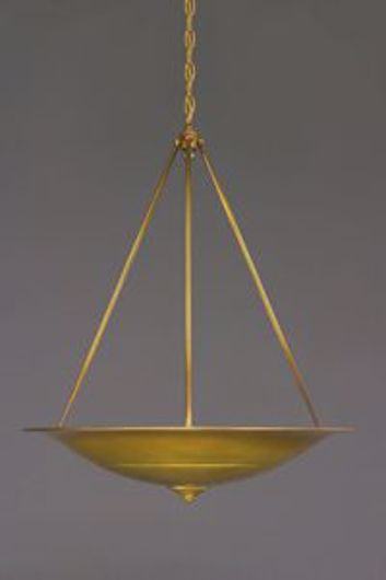 Picture of BRASS PATINA UPLIGHT CHANDELIER