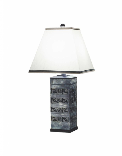 Picture of LAWRENCE & SCOTT CLEO TABLE LAMP IN ARCHAIC BRONZE